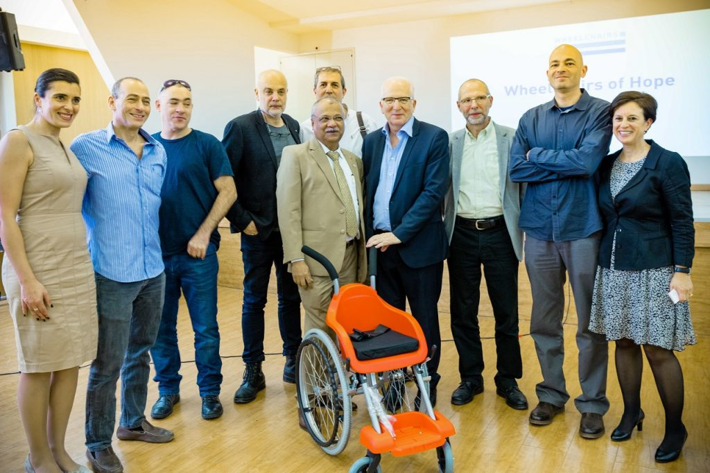 Wheelchairs of hope team